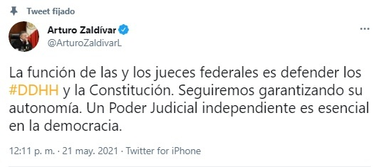 Poder Judicial, seguirá defendiendo DH y la Constitución, afirma el presidente de la Suprema Corte,: Arturo Zaldívar, presidente de la Corte