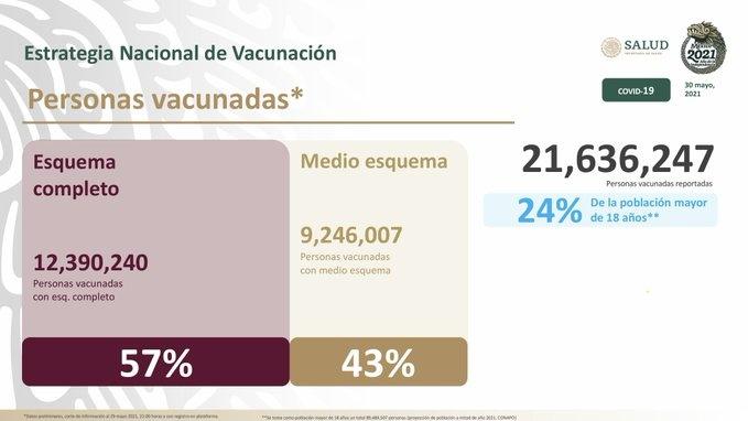 Uno de cada cuatro adultos ha recibido la vacuna contra el Covid-19