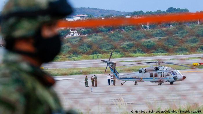 Disparan a helicóptero en el que viajaba el presidente de Colombia. El y su comitiva resultaron ilesos