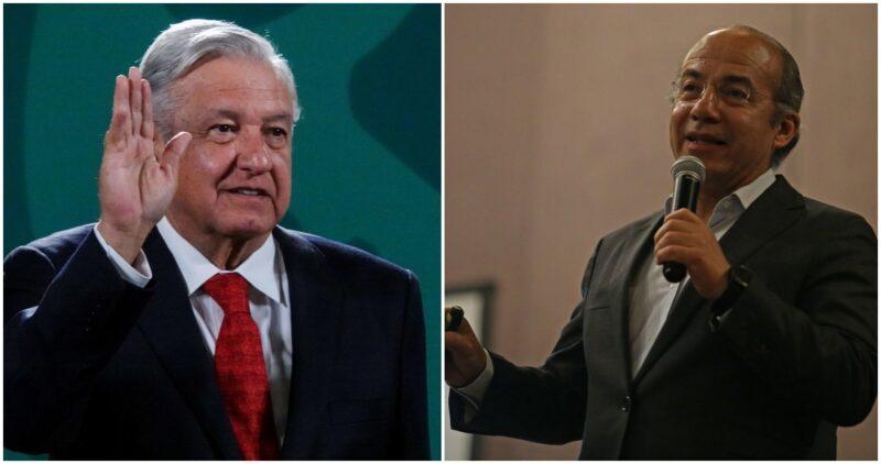 """""""Le deseo que salga adelante"""", dice AMLO de Calderón, aquejado de COVID,, quien agradece"""