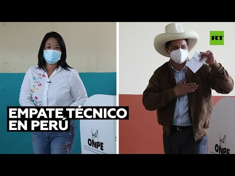 Balotaje en Perú: Empate técnico entre Keiko Fujimori y Pedro Castillo