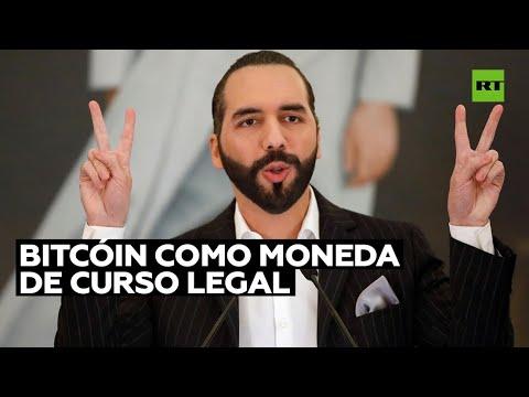 El Salvador será el primer país en adoptar el bitcóin como moneda de curso legal, anuncia Bukele