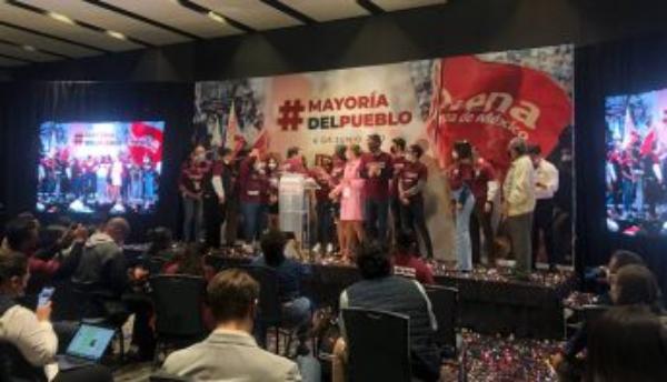"""Delgado festeja: Morena será de nuevo la primera fuerza política. """"La 4T sigue avanzando en todo el territorio nacional"""", dijo"""