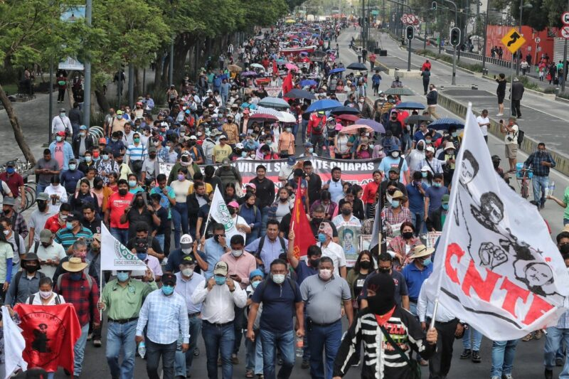 Ordena juez libertad condicional a 17 normalistas de Mactumactzá