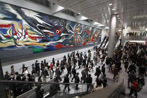 Redescubren en Japón el mural de Taro Okamoto inspirado en México