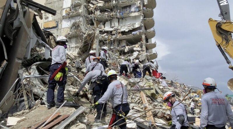 A una semana del colapso del condominio en Miami, 18 muertos y 145 desaparecidos