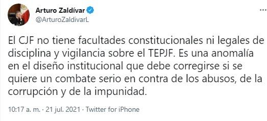 El presidente de la Suprema Corte de Justicia pide facultades legales para combatir abusos en el Tribunal Electoral del Poder Judicial de la Federación