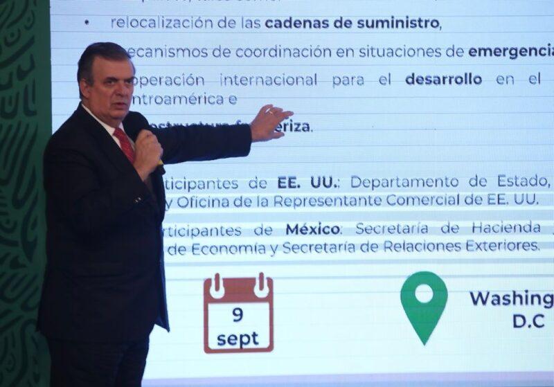 Harris, Clouthier y Ebrard encabezarán diálogo económico México-EU, precisa el titular de Relaciones Exteriores