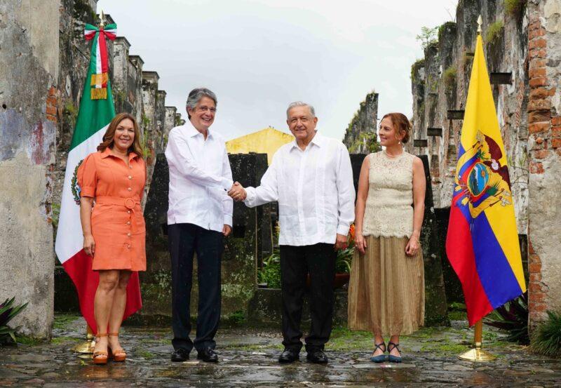 AMLO conmemoró los 200 años de los Tratados de Córdoba, que posibibilitaron la Independencia. Acudió el presidente de Ecuador