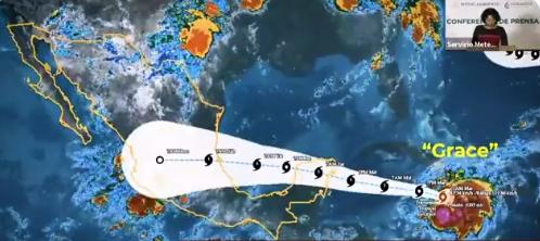 Alerta Verde en Yucatán y Quintana Roo por 'Grace'; 122 mil personas en riesgo