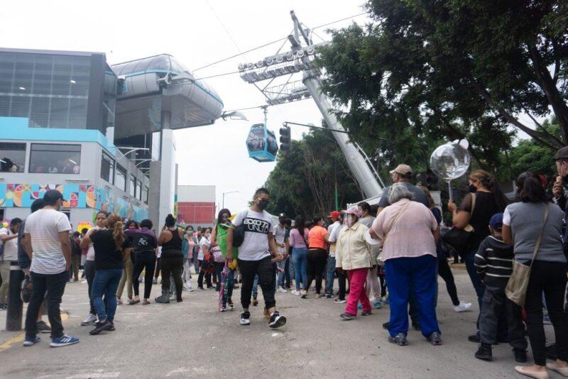 """Video: Inauguran línea 2 del Cablebús en la Ciudad de México; va de Constitución a Santa Martha. """" La obra reduce desigualdades sociales"""": Sheinbaum"""