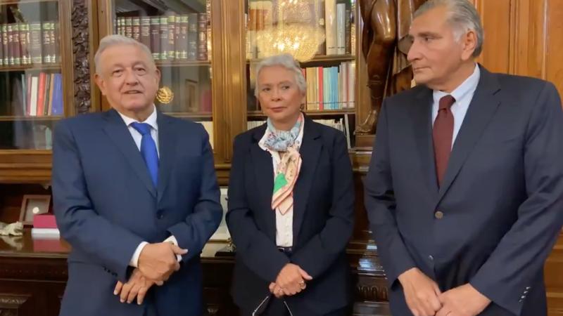 Videos: Adán Augusto López a Gobernación; Sánchez Cordero vuelve al Senado