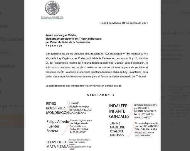 Crisis en el Tribunal Electoral del Poder Judicial de la Federación: Perfilan a Reyes Rodríguez como nuevo presidente