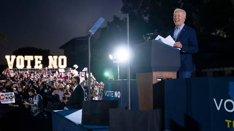 Biden pide a californianos votar este martes para que Gavin Newsom siga como gobernador y sean derrotados sus opositores republicanos de Trump