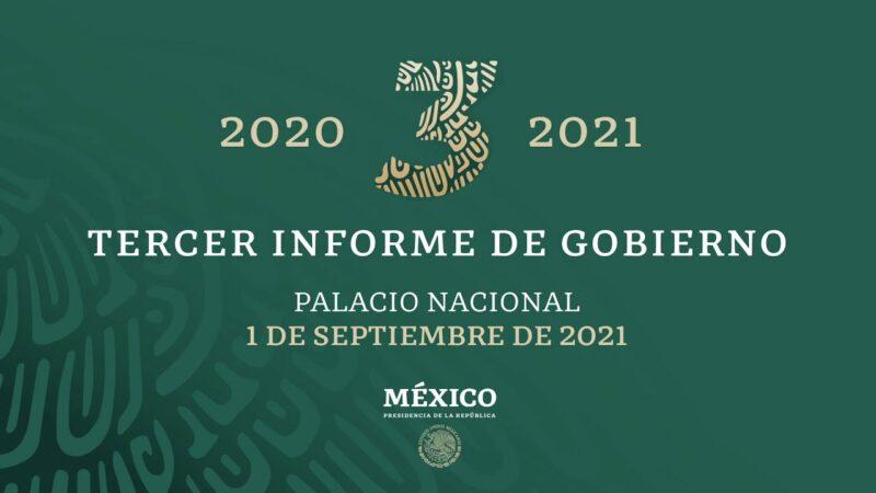#EnVivo: Tercer Informe de Gobierno del Presidente López Obrador