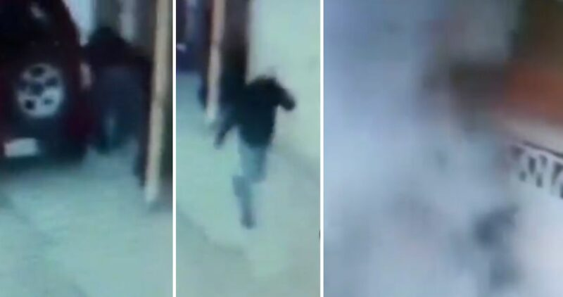 Otro bombazo: ahora en Puebla y no causó víctimas. Captan en video al hombre que colocó el explosivo en una casa