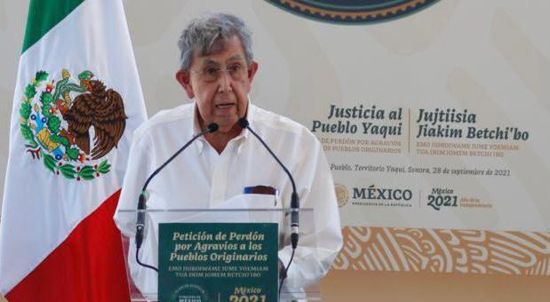 Felicita Cárdenas a AMLO por impulsar plan de justicia para pueblo yaqui y pide cancelar el Acueducto Independencia que le quita agua de manera ilegal