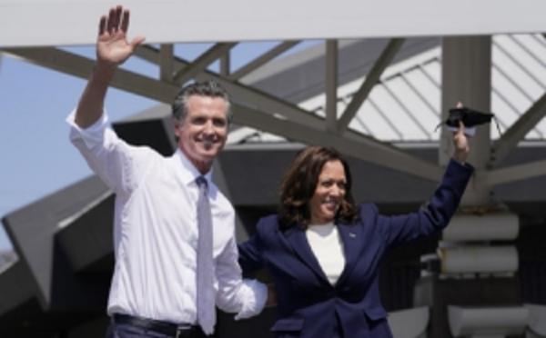 Kamala Harris visita el Área de la Bahía para apoyar a Gavin Newsom en la elección revocatoria
