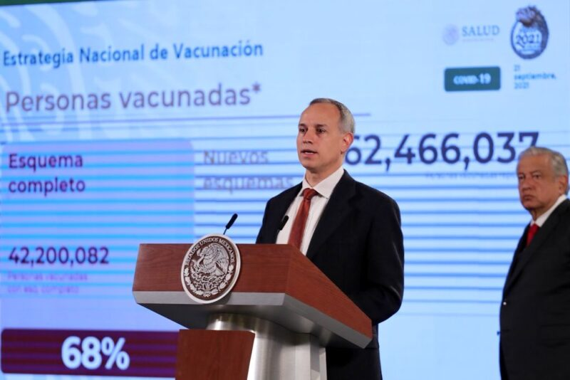 Octava semana al hilo con baja en la pandemia, reporta López-Gatell. Hay 25 por ciento de reducción en contagios, indica