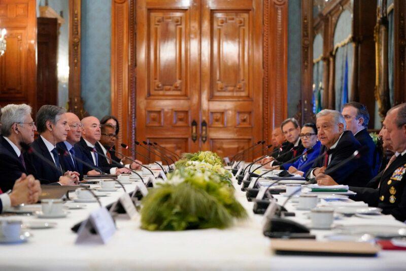 Video  Se reúne AMLO con funcionarios de alto nivel de EU para lograr un acuerdo sobre seguridad